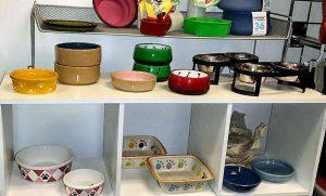 dog bowl selection at Golly Gear
